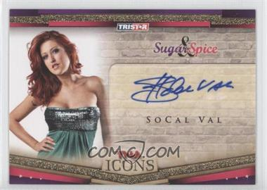2010 TRISTAR TNA Icons Sugar & Spice Autographs Gold #SS9 - SoCal Val /50