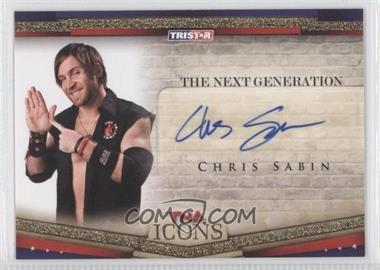2010 TRISTAR TNA Icons The Next Generation Autographs Gold #NEXT2 - Chris Sabin /50