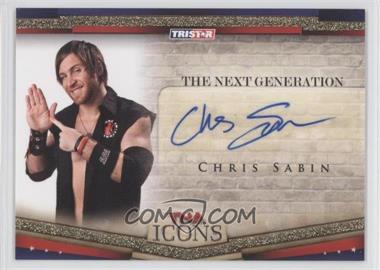 2010 TRISTAR TNA Icons The Next Generation Autographs Gold #NEXT2 - Chris Sabin /50
