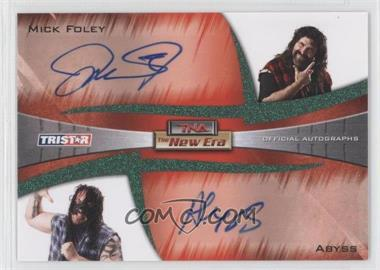 2010 TRISTAR TNA The New Era - Dual Autographs - Green #A2-2 - Mick Foley, Abyss /25