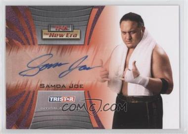 2010 TRISTAR TNA The New Era Autographs Purple #A23 - Samoa Joe /1