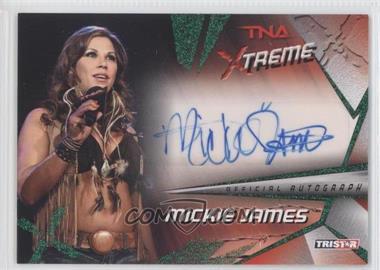 2010 TRISTAR TNA Xtreme - Autographs - Green #X33 - Mickie James /25