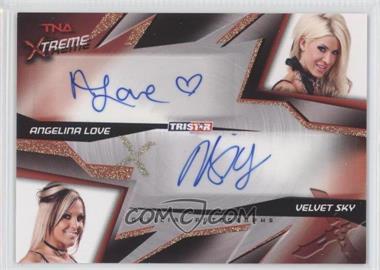 2010 TRISTAR TNA Xtreme - Dual Autographs #X2-4 - Angelina Love, Velvet Sky /99