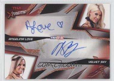 2010 TRISTAR TNA Xtreme Dual Autographs #X2-4 - Angelina Love, Velvet Sky /99