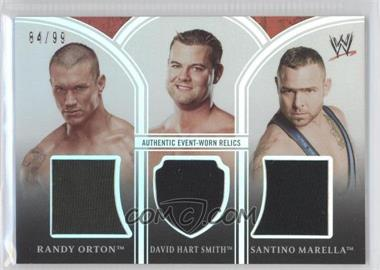 2010 Topps Platinum WWE [???] #PTR-8 - Randy Orton, David Hart Smith, Santino Marella /99