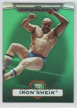 2010 Topps Platinum WWE Green #10 - The Iron Sheik /499