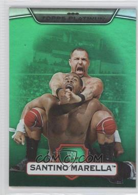 2010 Topps Platinum WWE Green #112 - Santino Marella /499