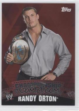 2010 Topps WWE Championship Material #C16 - Randy Orton
