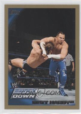 2010 Topps WWE Gold #5 - Matt Hardy /50