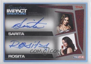 2011 TRISTAR TNA Signature Impact Wrestling Autographs Dual Red #S2-8 - Sarita, Rosita /5