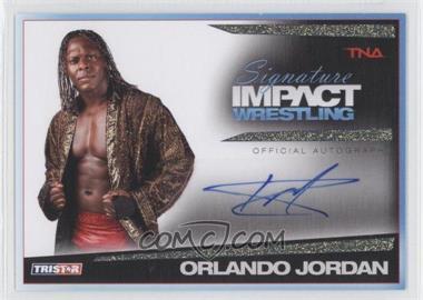 2011 TRISTAR TNA Signature Impact Wrestling Autographs Gold #S32 - Orlando Jordan /25