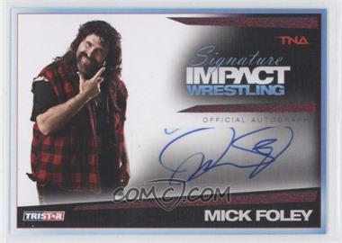 2011 TRISTAR TNA Signature Impact Wrestling Autographs Red #S33 - Mick Foley /5