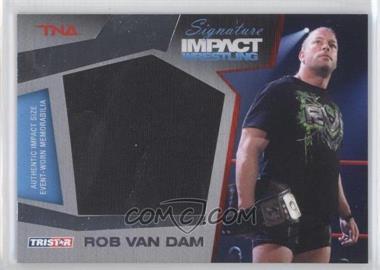 2011 TRISTAR TNA Signature Impact Wrestling Materials Silver #M10 - Rob Van Dam /199