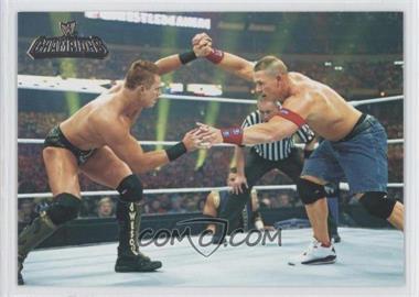 2011 Topps WWE Champions #89 - Wrestlemania XXVII - The Miz, John Cena