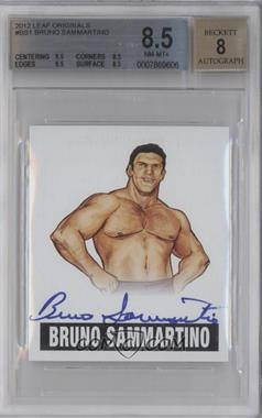 2012 Leaf Originals Wrestling - [Base] #BS1 - Bruno Sammartino [BGS 8.5]