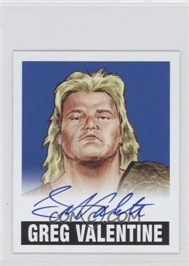 2012 Leaf Originals Wrestling Alternate Art Blue #A-GV1 - Greg Valentine /10