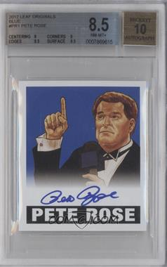 2012 Leaf Originals Wrestling Blue #1 - Pete Rose /25 [BGS8.5]