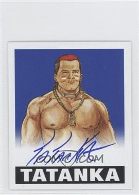 2012 Leaf Originals Wrestling Blue #TAT - Tatanka /25