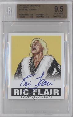 2012 Leaf Originals Wrestling Yellow #TNB - Ric Flair /50 [BGS9.5]