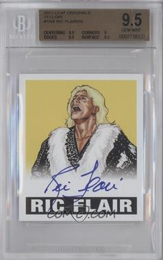 2012 Leaf Originals Wrestling Yellow #TNB - Ric Flair /50 [BGS 9.5]