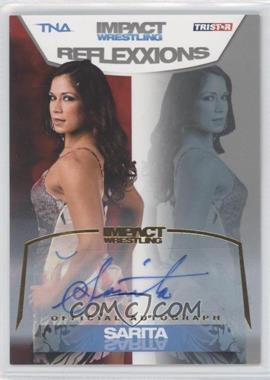 2012 TRISTAR TNA Impact Wrestling Reflexxions Autographs Gold #47 - Sarita /50