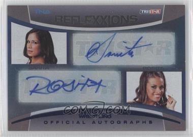 2012 TRISTAR TNA Impact Wrestling Reflexxions Dual Autographs Blue #R2-15 - Sarita, Rosita /99