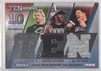 Jeff Jarrett, James Storm, AJ Styles /100