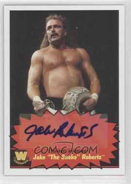 "2012 Topps Heritage WWE Autographs #JARO - Jake ""The Snake"" Roberts"