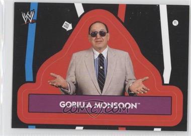 2012 Topps Heritage WWE Stickers #11 - Gorilla Monsoon