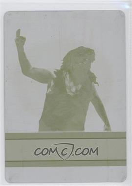 2012 Topps WWE - First Class Champions - Printing Plate Yellow #9 - Mankind /1