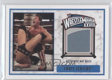 2012 Topps WWE - Wrestlemania XXVIII Mat Relics #CHJE - Chris Jericho