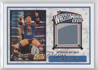 2012 Topps WWE - Wrestlemania XXVIII Mat Relics #ZARY - Zack Ryder