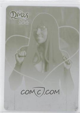 2012 Topps WWE Divas Class of 2012 Printing Plate Yellow #2 - Aksana /1