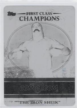 2012 Topps WWE First Class Champions Printing Plate Black #1 - The Iron Sheik /1