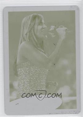 2012 Topps WWE Printing Plate Yellow #84 - Lilian Garcia