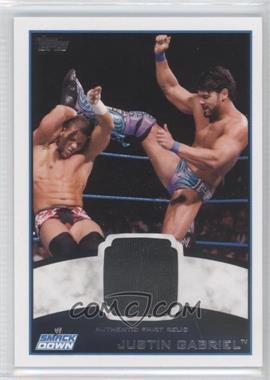 2012 Topps WWE Shirt Relics #JUGA - Justin Gabriel