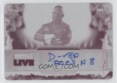 2013 TRISTAR TNA Impact Wrestling Live Autographs Printing Plate Magenta #L11 - Brother Devon /1