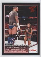 AJ Lee proposes to CM Punk, while Daniel Bryan counters by proposing to AJ