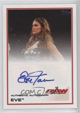 2013 Topps WWE Authentic Autograph #EV - Eve Torres