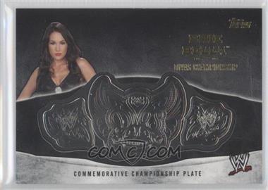 2014 Topps WWE Commemorative Plate #NIBE - Nikki Bella