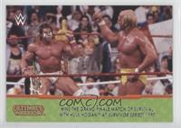 Ultimate Warrior wins the Grand Finale Match of Survival with Hulk Hogan at Sur…