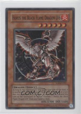 2004 Yu-Gi-Oh! Soul of the Duelist Booster Pack [Base] Unlimited #SOD-EN007.1 - Horus the Black Flame Dragon LV6 (Super Rare)