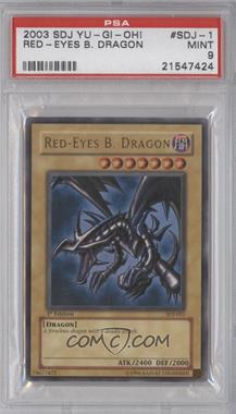 2004 Yu-Gi-Oh! Starter Deck Joey - [Base] - 1st Edition #SDJ-001 - Red-Eyes B. Dragon [PSA9]