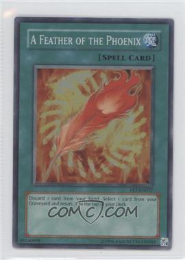 2005 Yu-Gi-Oh! Flaming Eternity Booster Pack [Base] Unlimited #FET-EN037 - A Feather of the Phoenix