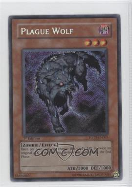 2007 Yu-Gi-Oh! Force of the Breaker Booster Pack [Base] 1st Edition #FOTB-EN065 - Plague Wolf (Secret Rare)