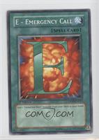 E - Emergency Call