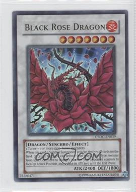 2008 Yu-Gi-Oh! Crossroads of Chaos Booster Pack [Base] Unlimited #CSOC-EN039.1 - Black Rose Dragon