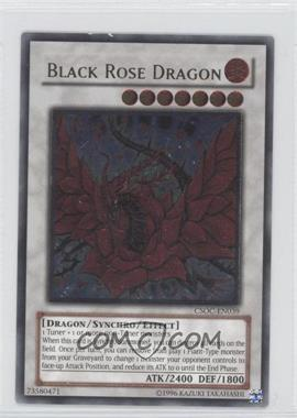 2008 Yu-Gi-Oh! Crossroads of Chaos Booster Pack [Base] Unlimited #CSOC-EN039.2 - Black Rose Dragon