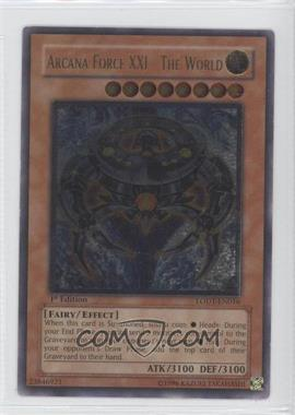 2008 Yu-Gi-Oh! Light of Destruction Booster Pack [Base] 1st Edition #LODT-EN016.2 - Arcana Force XXI - The World