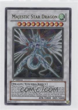 2009 Yu-Gi-Oh! Stardust Overdrive Booster Pack [Base] 1st Edition #SOVR-EN040 - Majestic Star Dragon